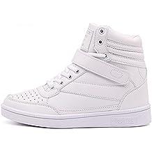 happygo Donna Stivali Zeppa Sneakers Scarpe da Ginnastica da Polacchine Stivaletti Strappo Stealth Tacco 8 cm Scarpe E0Jmna4g