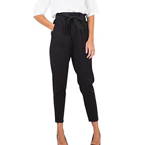 CICIYONER Mujeres Sueltas Pantalones Casuales Cintura elástica Pantalones hasta el Tobillo Pantalones