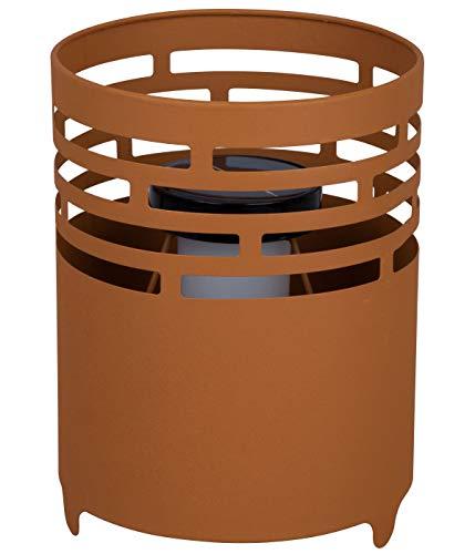 Dehner Fevira - Brasero Solar (diámetro de 19 cm, Altura de 25 cm, Metal), Color Oxidado
