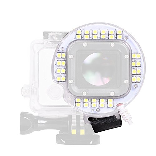 G-raphy 40 LED Ring Light Flash USB Lens Ring LED Flash Light Shooting For GoPro Hero 4 3+ 3 Standard Waterproof Housing Case