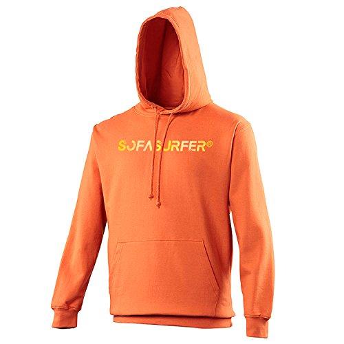 Sofasurfer® Hoodie Kapuzensweatshirt mit Druck Sweatshirt , Größe:M, Farbe:Burnt Orange (Hoody Sweatshirt Orange Burnt)
