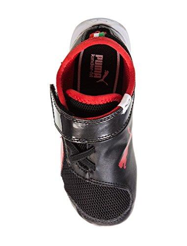 Puma , Baskets Mode pour Garçon Black/Rosso Corsa