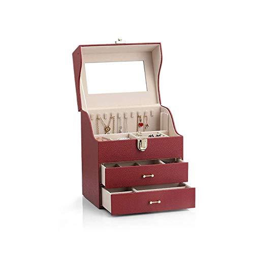 GZQDX Organizador de la joyería Caja, Caja de joyería for Las Mujeres, joyería Organizador con 2...