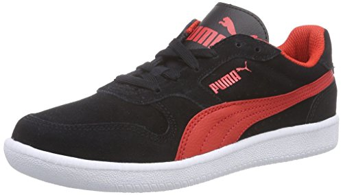 Puma Icra Trainer SD Jr, Sneakers basses mixte enfant Noir - Schwarz (black-high risk red 06)