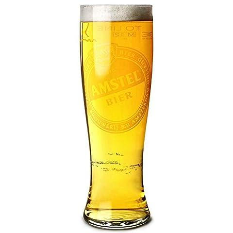 Amstel Pilsner Pint Glasses 23oz LCE at 20oz - Set of 4   Amstel Bier Glasses, Amstel Glasses, Amstel Beer Glass, CE Marked Pint