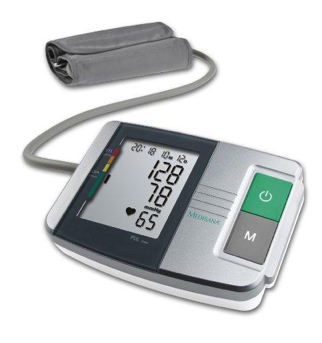 Medisana MTS Sfigmomanometro da Braccio Indicatore aritmie, 60 spazi di memoria per ciascuno dei 2 utenti, Visualizza dati: sistolico, diastolico, impulso, data, ora - 51152