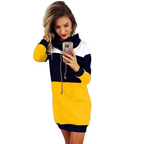 SuperSU Damen Winter Kaschmir übergroße Pullover Kleid Gestrickte Lose Langarm Casual Rundhalsausschnitt Warmer aus Wolle Oversized Pullover Bodycon Kurze Mini Sommerkleid