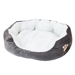 Warme Tierbett Katzenbett Hundebett Haustierbett Hundekissen für Haustier Hündchen Welpen Katzen Waschbar Faltbar 7 Farben
