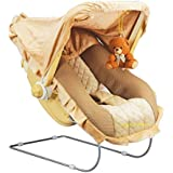 Goyal's 12 in 1 Musical Carry Plastic Cot/Bouncer with Mosquito Net and Storage Box (Brown,gt236coat)