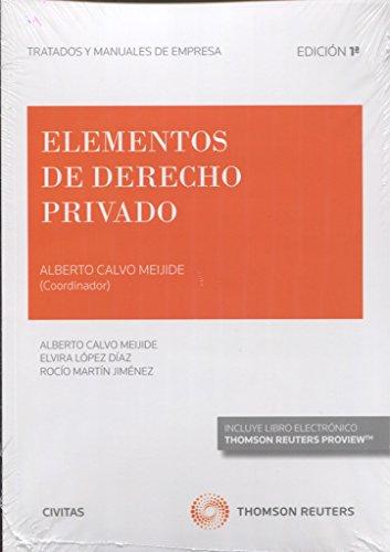 Elementos de Derecho Privado (Papel + e-book) (Tratados y Manuales de Empresa)