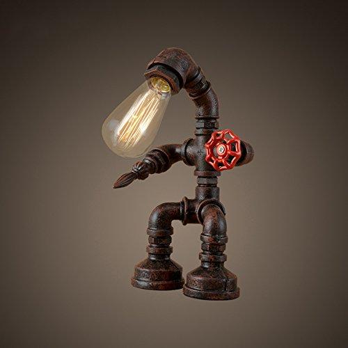 XLHL LED Tischlampe Kreative Eisenrohr Schutz Auge Industrielle Retro Geschenk Kaffee Bar Wasser Rohr Roboter Licht -