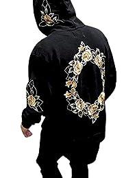 Moonuy Pull à Capuche Hommes Sweat à Capuche Veste Outwear Pullover Hommes  Impression À Capuchon Manteau b1daf38198b5