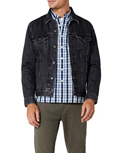 Levi's the trucker jacket, giacca in jeans uomo, nero (fegin 0305), medium