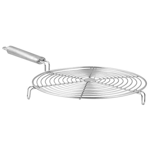 Golden Fish Burner,Papad,Roti Stand Charcoal Grill Roast Grill Stand Charcoal Hand Warmer Rack Stand (Round Shape),