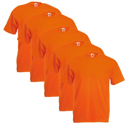Fruit Of The Loom Original T 5-Pack Logo Men's T-Shirt Orange