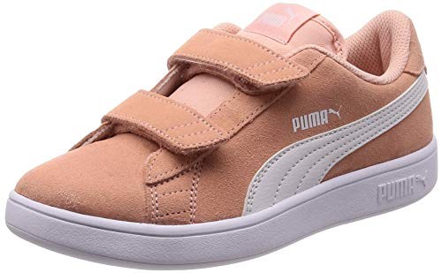 Puma Puma Smash v2 SD V PS, Unisex-Kinder Sneakers, Beige (Peach Bud-Puma White), 28 EU (10 UK) - Mädchen 10 Sportschuh Größe