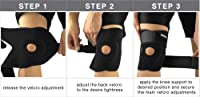 Bracoo Knee Support, Open-Patella Stabiliser, Adjustable Brace, Neoprene Sleeve – Arthritic Pain Relief, Sports Injury Rehabilitation & Protection against Reinjury