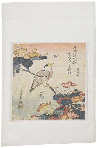 3drose FL _ 163291_ 1Bild der japanischen Malerei von Vogel und Blumenmuster mit Worten Garten Flagge, 12von 18