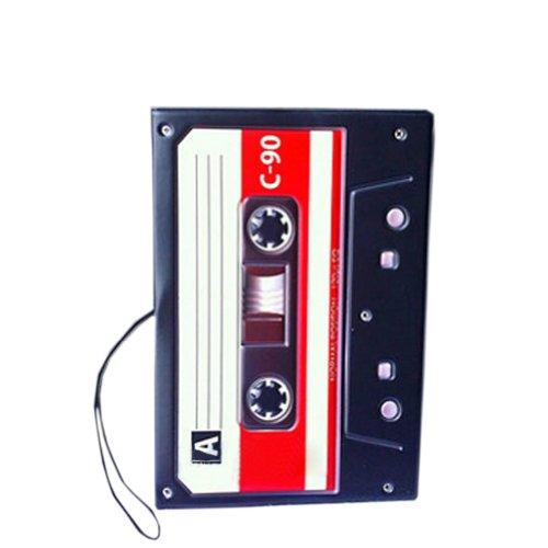 Tape Recorder-Pass-Halter Retro Fuax Leder-Pass-Abdeckung 5 * 3,5 Zoll