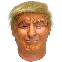 Hengyutoy Mask Máscara de Cabeza Humana de Fiesta de Traje Lujo de Halloween de Donald Trump