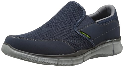 Skechers Men's Equalizer Persistent Low-Top Sneakers - Blue (Navy Grey), 11 UK