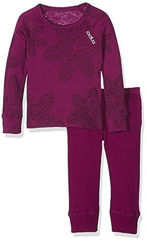 Odlo Kinder Shirt l/s Crew Neck Set Unterhemd, Langarm, Magenta Purple, 164