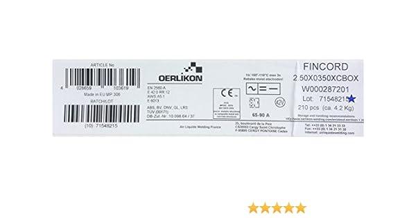 Oerlikon Fincord 1,6x250mm 220 St/ück 1,3kg
