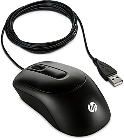 HP X900 (V1S46AA) optische Maus mit Kabel (1000 dpi, 3 Tasten, Scrollrad) schwarz