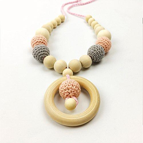 Best for baby Halskette Teether Hölzern Ring Häkelnde Perlen DIY Kunsthandwerk Baby Krankenpflege Halskette Schmuck for Mama