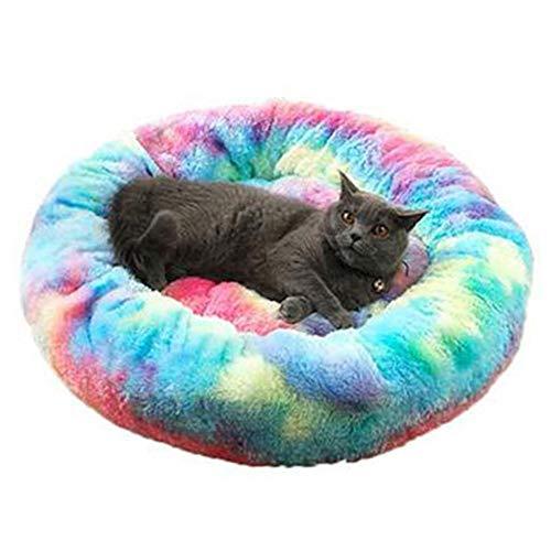 Gereton Plüsch Donut Hund Katze Runde Bett Kissen Waschbar Warme Nest Matratze Für Kleine Mittlere Welpen Hund Katze Haustier Fell Kuschler Bett Schlafen -