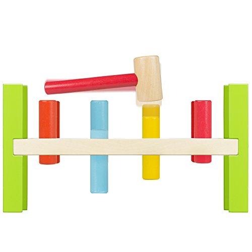 Imagen para ColorBaby - Juego de figuras y martillo de madera (40999)