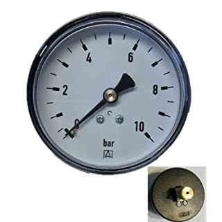 Afriso rear threaded pressure gauge with connection, 1/4inch,pack of 1,600450