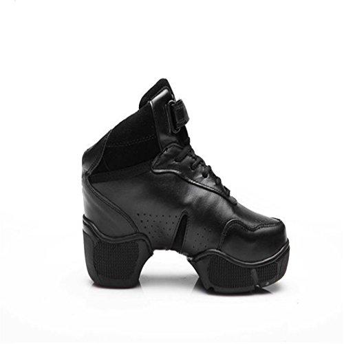 ZQ@QXMorbide e confortevoli lady traspirante dimensioni square dance scarpe fondo morbido jazz scarpe black