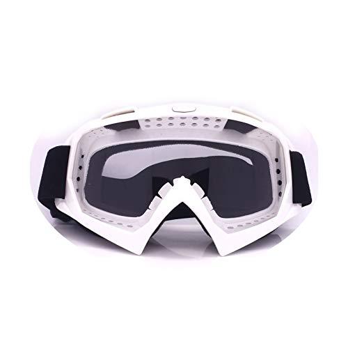 Adisaer Radbrille Klar Motorradausrüstung Off Road Brille Skibrille Brille Helm Reiten Outdoor Brille White Transparent Damen Herren
