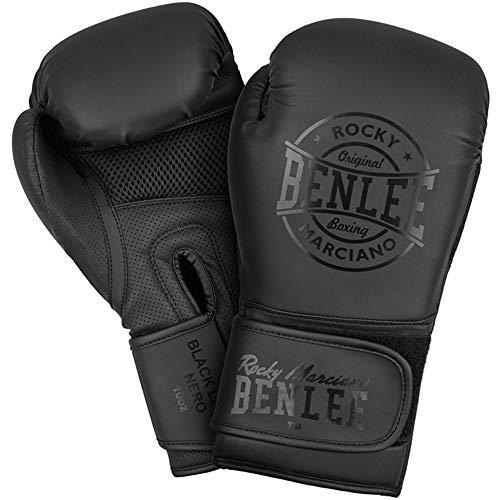 BENLEE Rocky Marciano Unisex- Erwachsene Black Label Nero Artificial Leather Boxing Gloves, 10 oz