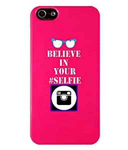 KolorEdge Back Cover For Apple Iphone 5G - Pink (2476-Ke15152IPhone5GPink3D)