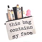 TAOtTAO Cosmetic Bag Frauen Briefe Druck Make-up Kosmetiktasche Kulturbeutel Lagerung Reise Wash Handtasche (C)