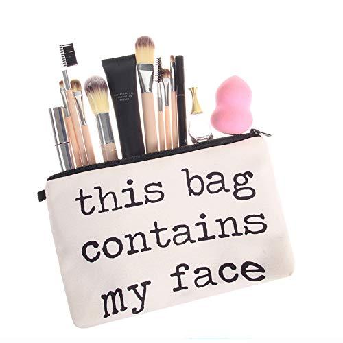 TAOtTAO Cosmetic Bag Frauen Briefe Druck Make-up Kosmetiktasche Kulturbeutel Lagerung Reise Wash...