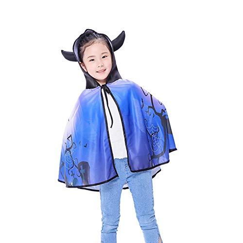 Teufel Kostüm Kid - Shiningbaby Halloween-Mantel für Kid Boy Girl, Maskerade der Kinder Cosplay Kostüm Kürbis Hexe Teufel Hoodie Cape Outwear