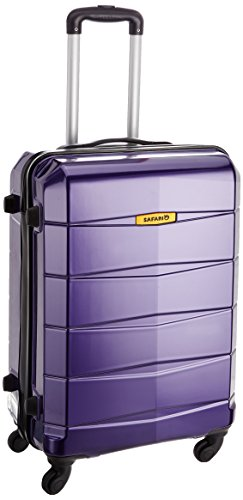 Safari Re-Gloss Polycarbonate 65 cms Dark Purple Suitcases (NEW-Re-Gloss-65-Purple-4WH)