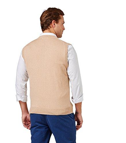 Wool Overs Pull sans manches homme en cachemire et coton Sable