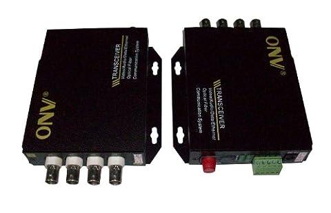 Optic Optical Fiber Extender Transceiver 4 CH Video Transmitter Receiver