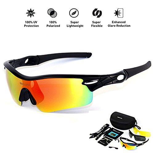 59776d9916 HONCENMAX Gafas de Sol Deportivas Polarizadas Protección UV400 para Hombres  Mujeres Ciclismo Equitación Corriendo Pescar Gafas