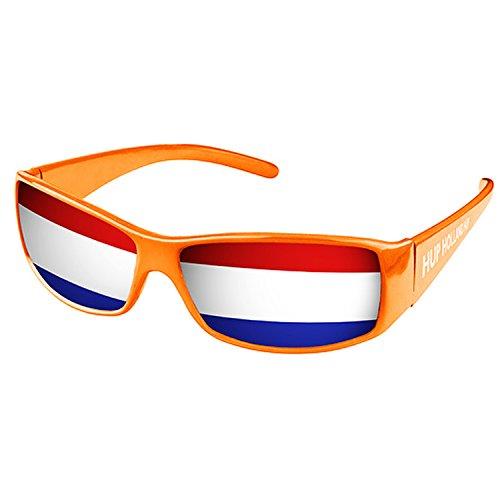 Piersando Sonnenbrille Brille Fahne Fussball EM & WM Länderflagge Augen Fanartikel Land Flagge Niederlande