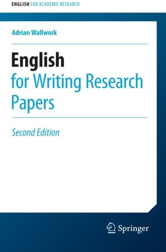 Portada del libro English for Writing Research Papers (English for Academic Research) by Adrian Wallwork (2016-04-04)