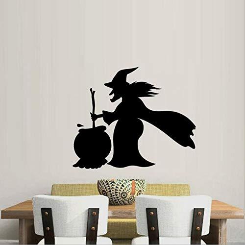 ecal, Hexe, Kunst Dekor, PVC, Wohnzimmer Schlafzimmer, Tapeten, Wandgemälde, Aufkleber, Selbstklebendes Papier ()