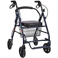 6f674438852663 DNSJB Älterer Laufkatzen-Walker Rollator Vier faltender Leichter Rollstuhl