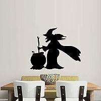 Xue Halloween Wand Decal, Hexe, Kunst Dekor, PVC, Wohnzimmer Schlafzimmer, Tapeten, Wandgemälde, Aufkleber, Selbstklebendes Papier