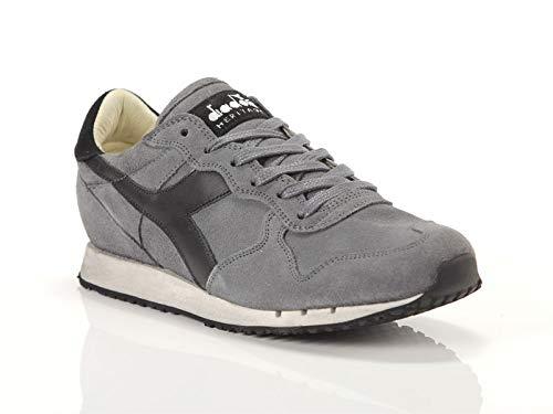 Diadora Heritage, Uomo, Trident S SW Gray, Suede / Pelle, Sneakers, Grigio, 43 EU
