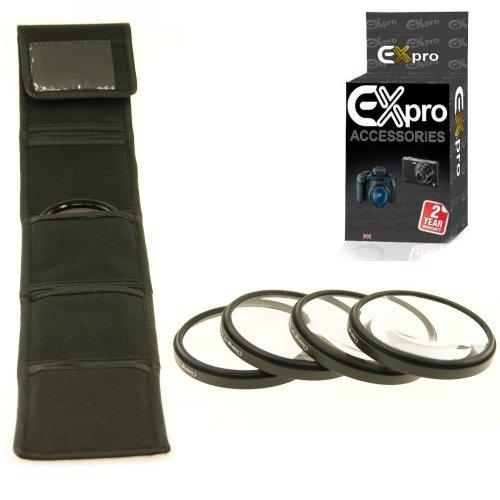 Makro EX-Pro Kamera 4 Stücke Filterset mit Tasche 55mm Set